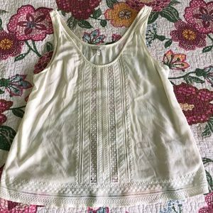 Gorgeous Cream Joie 100% Silk Top Size M